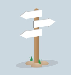 Direction arrow sign vector image