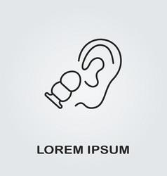 earplug icon vector image vector image