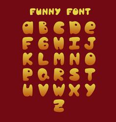 funny hand-drawn english alphabet vector image vector image