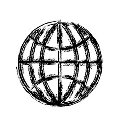 Global connection icon vector