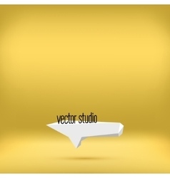 Gold yellow studio room backdrop background vector