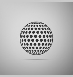 Golf ball flat icon on grey background vector