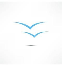Gulls icon vector