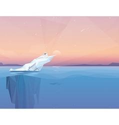 Harp seal on a melting iceberg vector
