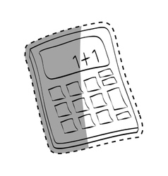isolated Calculator draw vector image