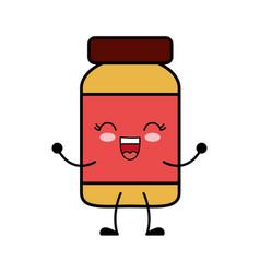Kawaii medicine bottle icon vector