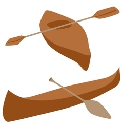 Kayak and canoe vector