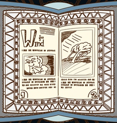Magic book with the spell of wind vector image