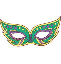 mardi gras mask - isolated element doodle cartoon vector image