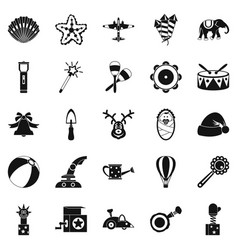Obsolete toy icons set simple style vector