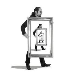 Philosophy of egoism vector