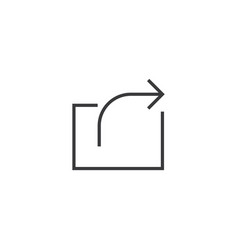 share icon line style vector image vector image