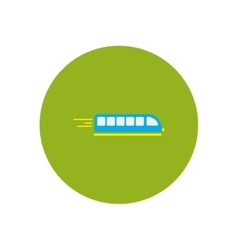 Stylish icon in color circle high-speed train vector
