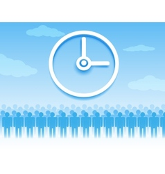 Time management background vector