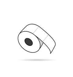 toilet paper roll in white vector image