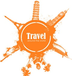 Travel design element vector image vector image