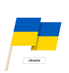 Ukraine ribbon waving flag isolated on white vector