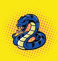 Viper snake pop art style vector