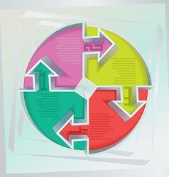 wall infographics vector image