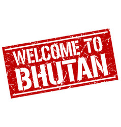 Welcome to bhutan stamp vector