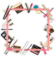 Makeup frame vector