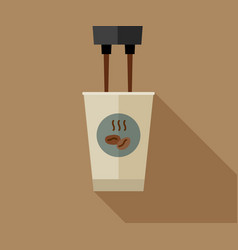 Coffee making with paper cup vector
