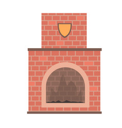 brick home fireplace vector image