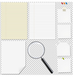 Paper big set with magnifying vector