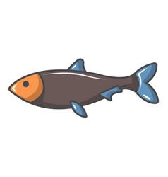Nordic fish icon cartoon style vector