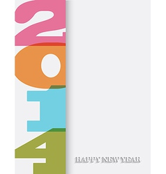Creative Happy New Year 2014 background vector image