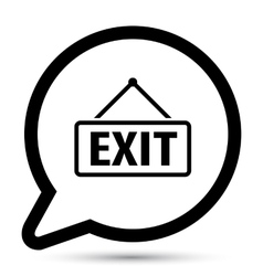 Bubble with exit board icon vector