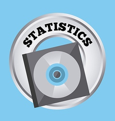 Statistics button vector