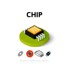 Chip icon in different style vector