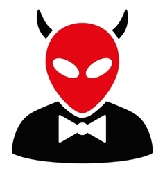 Devil flat icon vector