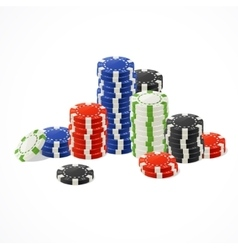 Casino gambling chips stacks vector