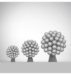 3d abstract tree leadership vector
