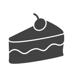 Slice of cake ii vector