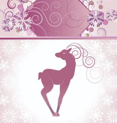 Christmas decor deer vector