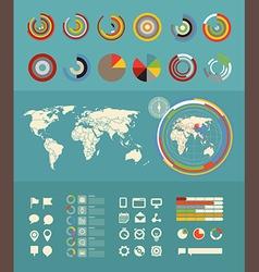 Infographic elements clip-art Flat design elements vector image