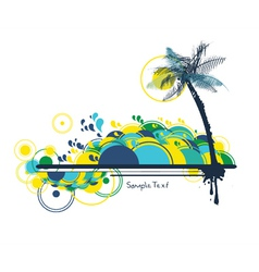 Summer background with palm tree vector
