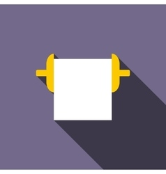 Roll paper towel icon flat style vector