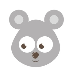 cute mouse character isolated icon design vector image