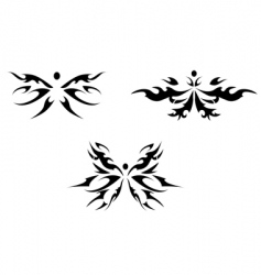 abstract butterfly tattoo vector image vector image