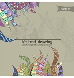 abstract drawning vector image