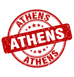 Athens stamp vector