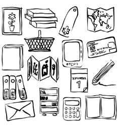Bookshop sketch images vector