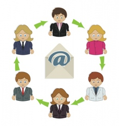 business email vector image vector image