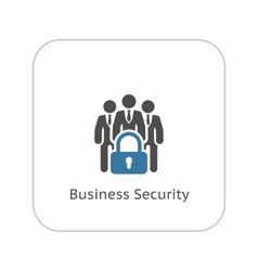 Business Security Icon Flat Design vector image