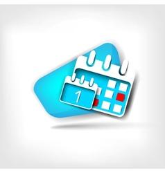 Calendar organizer web icon vector image