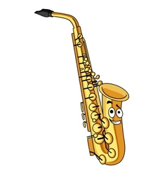 Cartoon brass saxophone vector